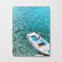 257. Turquoise Water, Greece Metal Print