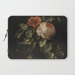 Botanical Rose And Snail Laptop Sleeve