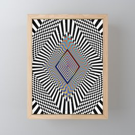 Matrix processor. Holographic hypnotic pattern. Framed Mini Art Print