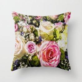 Shabby Roses Throw Pillow