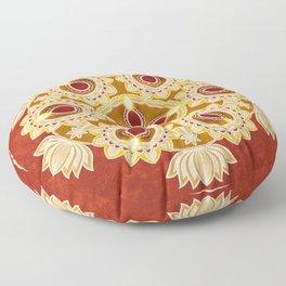 The mandala of lights Floor Pillow