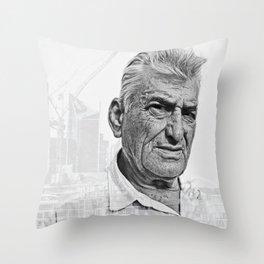 Architect double exposure Throw Pillow
