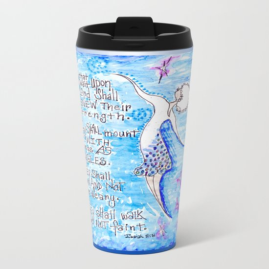 Isaiah 40:31 Metal Travel Mug