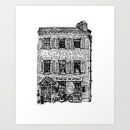 Cambridge Wine Merchants, Kings Parade Art Print
