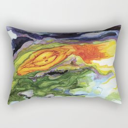 Serpent Seed Twin Birthing Fire Moss Rectangular Pillow