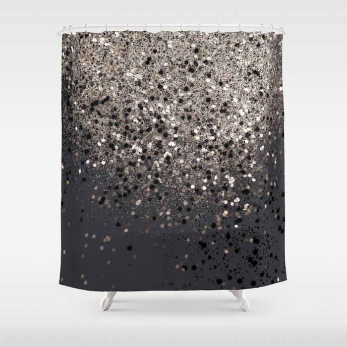Sepia Glitter 1 Shiny Decor Art Society6 Shower Curtain