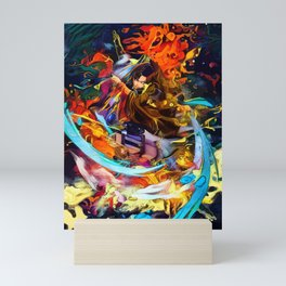 Colorful Levi Aura Mini Art Print
