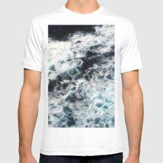 Ocean Painting White Mens Fitted Tee MEDIUM