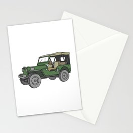 SUV. All-wheel off-road car. Stationery Cards
