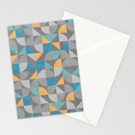 Mid Century Geometrics Stationery Cards