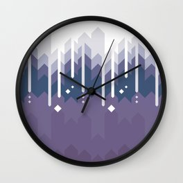 Mountains Abstract Wall Clock