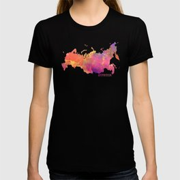 Russia map T-shirt