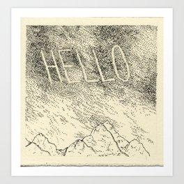 Sky Writing: Hello Art Print