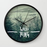 washington Wall Clocks featuring Wild Thing: Skagit Valley, Washington by Leah Flores