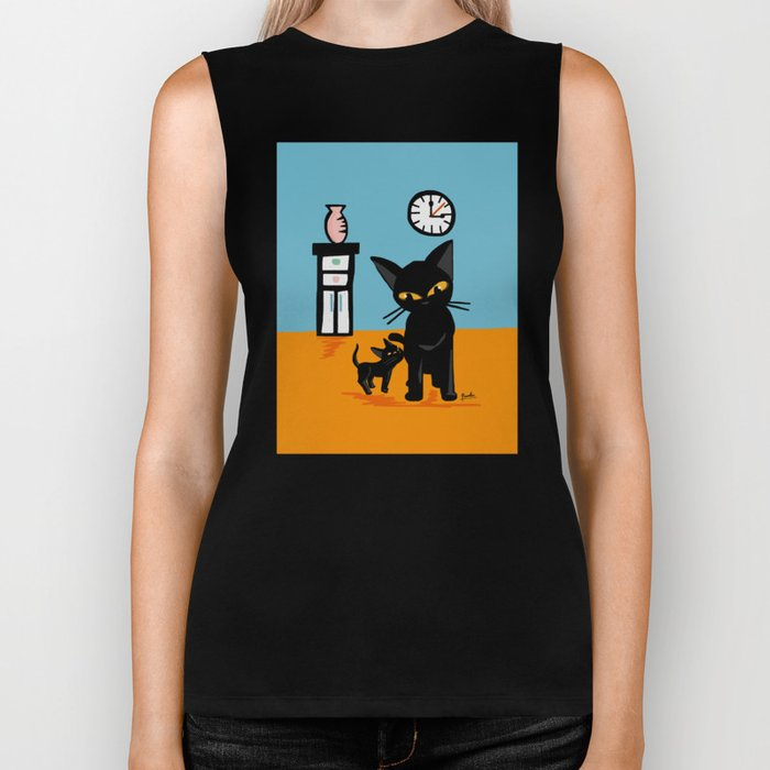 With a little boy Biker Tank