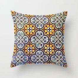 Floor Series: Thian Hock Keng Tiles 3 Throw Pillow