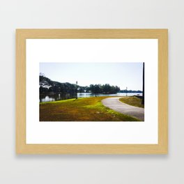 The Lakeshore from home Framed Art Print
