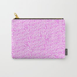 Microchip Pattern (Pink) Carry-All Pouch
