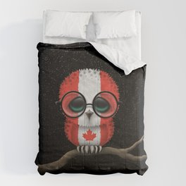 Baby Owl with Glasses and Canadian Flag Comforters