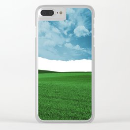 Lost Horizon Vertical2 Clear iPhone Case