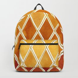 Autumn colors and  gold texture Backpack