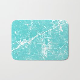 Aqua white modern stylish marble Bath Mat