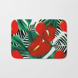 Anthurium red Bath Mat