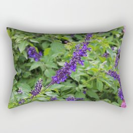 Indifference in Purple Rectangular Pillow