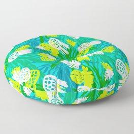 Tropical green pinapples Floor Pillow