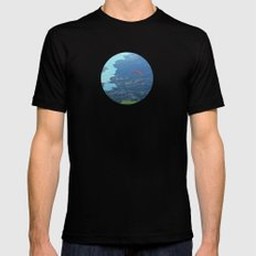 Alone In The Sky Black Mens Fitted Tee MEDIUM