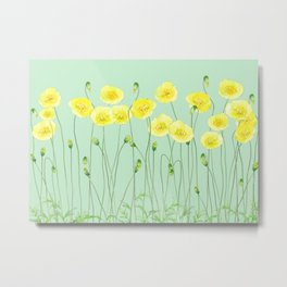 Yellow Wildflowers II Metal Print