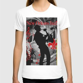 New Orleans Jazz Saxophone And Piano Music T-shirt