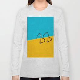 yellow blue pool Long Sleeve T-shirt