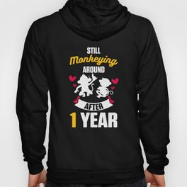 First 1st 1 year Wedding Anniversary Gift Husband Wife product Hoody