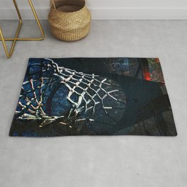 Basketball art print quarter 1 Rug