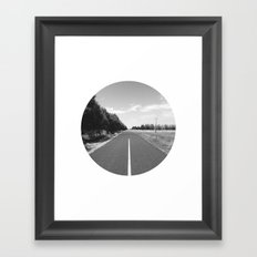 Straight & Narrow. Framed Art Print