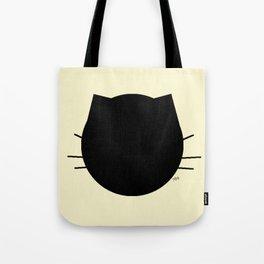 Black cat-Pastel yellow Tote Bag