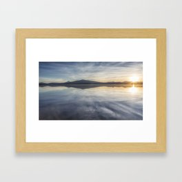 Sunset at Agency Lake, No. 1 Framed Art Print