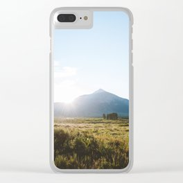 Sunrise Behind Mount Crested Butte Clear iPhone Case