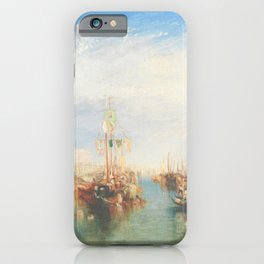 Venice from the Porch of Madonna della Salute by Joseph Mallord William Turner ca. 1835, British iPhone Case