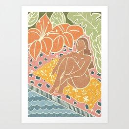 Poolside in the Tropics Art Print