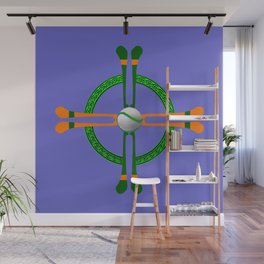 Hurley and Ball Celtic Cross Design - Solid colour background Wall Mural