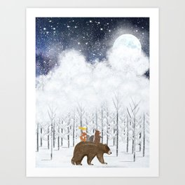 the white forest Art Print