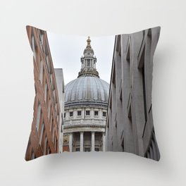 Peekaboo St Pauls Throw Pillow