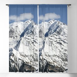 Mt. Blanc with clouds Blackout Curtain