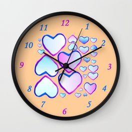 Coeur douceur Wall Clock