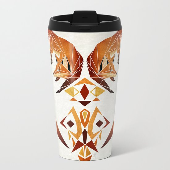 foxes heart  Metal Travel Mug