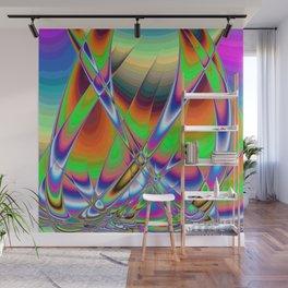 Sailing Boats in Rainbows Wall Mural