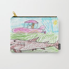 Zodiac over a Greenland Shark Carry-All Pouch