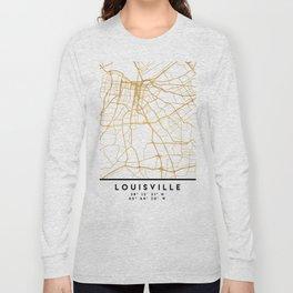 LOUISVILLE KENTUCKY CITY STREET MAP ART Long Sleeve T-shirt